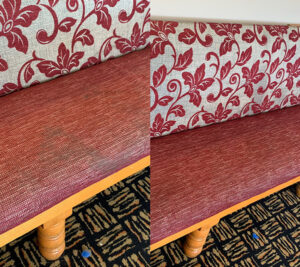 Domestic upholstry cleaning