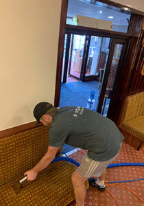 Storm Floorcare upholstery cleaning