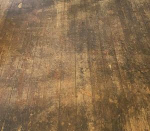 wooden floor dirty